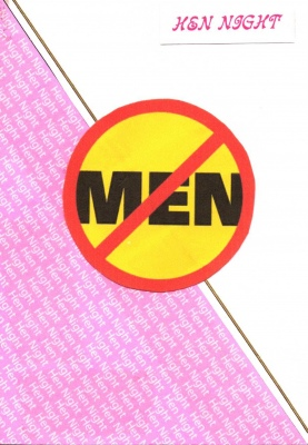 No Men Allowed Hen Night Invitation