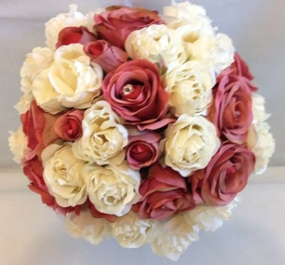 Pink and Ivory Rose Wedding Flower Collection