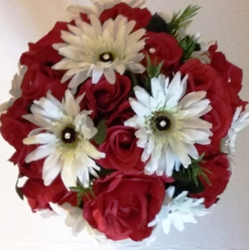 Red Rose and Gerbera Silk Flower Collection