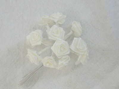 Small White Ribbon Tea Rose