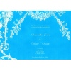 Baby Blue White Vintage Wedding Invitation