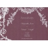 Burgundy Brown White Vintage Wedding Invitation