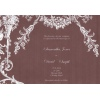Chocolate White Vintage Wedding Invitation