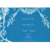 Deep Blue White Vintage Wedding Invitation