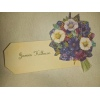 Floral Purple Flower Place Name Tag