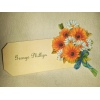 Floral Sunflower Place Name Tag