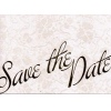 Ivory Cream Save the Date