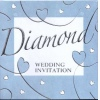 Silver Embossed Diamond Wedding anniversary pk6
